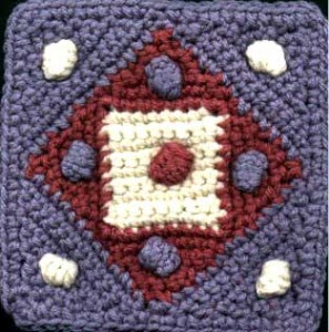 puff dog crochet square