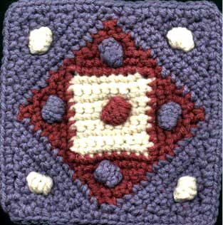 Puff Dog Free Crochet Square Pattern