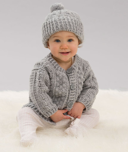 6c2cf0e31e20 Crochet Baby Cardigan ⋆ Knitting Bee (18 free knitting patterns)