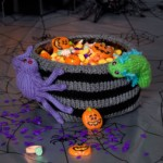 Bug Infested Bowl - Free Halloween Knitting Pattern