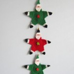 Gift Santas, Santa Garlands - Free Christmas Crochet Pattern