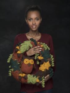 Halloween Wreath - Free Knitting Pattern