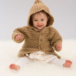 Hooded Playful Cardi - Free Crochet for Baby