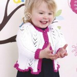 Lovely Lacy Baby Girl's Knitted Cardigan Pattern