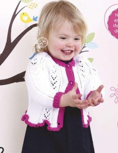 Lacy Baby Girl's Knitted Cardigan Pattern