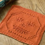 Lacy Jack-O-Lantern Dishcloth - Free Halloween Knitting Pattern