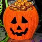 Pumpkin Bowl Cozy - Free Halloween Knitting Pattern