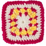 Square A for Bright Eyes Baby Blanket