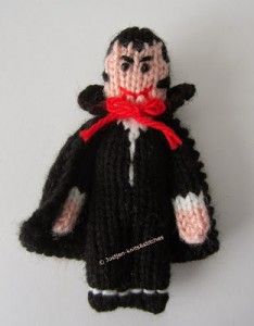 The Little Vampire - Free Halloween Knitting Pattern