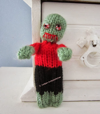 The Little Zombie - Free Halloween Knitting Pattern