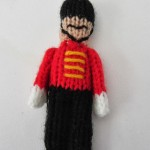 Toy Soldier Christmas Ornament - Free knitting Pattern