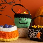 Trio of Treats Bag - Free Halloween Knitting Pattern