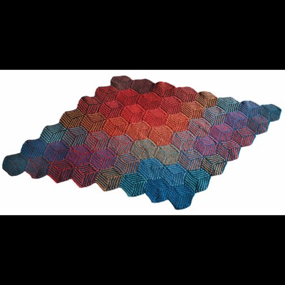 Valley Yarns 255 Illusion Cube Blanket Free Knitting Pattern