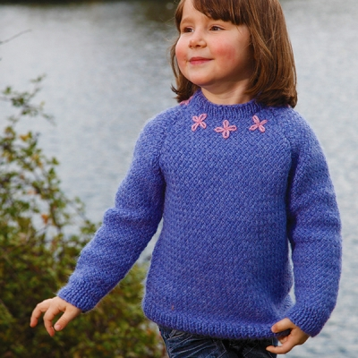 fcf6ca68d Blissful Girls Jumper Free Knitting Pattern