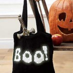 Halloween boo bag - Free Knitting Pattern