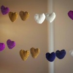 Knitted Heart Heart Garland