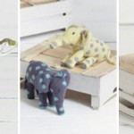 Noah's Ark Knitted Toy Patterns - Monkey, Giraffe and Elephant