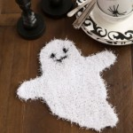 Ghosty Dish Scrubber - Free Halloween Knitting Pattern