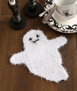 ghostly dish scrubber free halloween knitting pattern