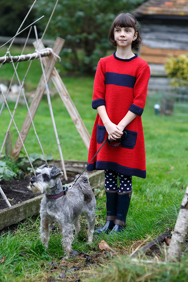 Lake Girls Dress Free Knitting Pattern