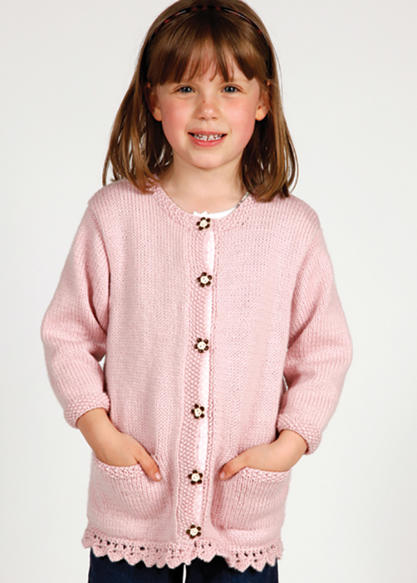 Marshmallow Girls Cardigan Pattern