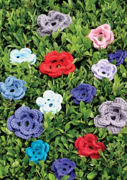 Sirdar crochet flowers pattern