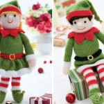 Bernard and Bernadette - Free Christmas Elf Knitting Patterns