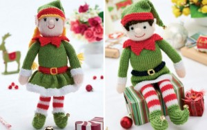 Bernard-and-Bernadette-Free-Christmas-Elf-Knitting-Patterns