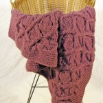 Box and Lattice Afghan Free Knitting Pattern