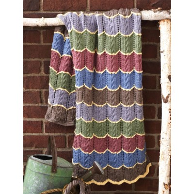 Cable Wave Blanket free knitting pattern