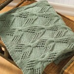 Cable and Lace Textured Knit Throw