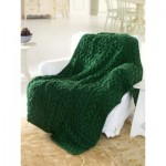 Cabled Cubed Throw - Free Knitting Pattern