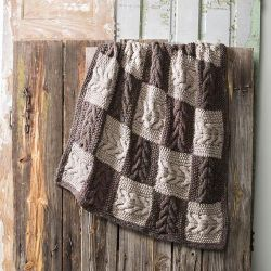 Chasing Cables Throw Free Knitting Pattern
