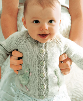 Chick - Free Baby Cardigan Knitting Pattern