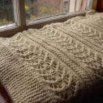 Cozy Lace and Cable Knitting Blanket