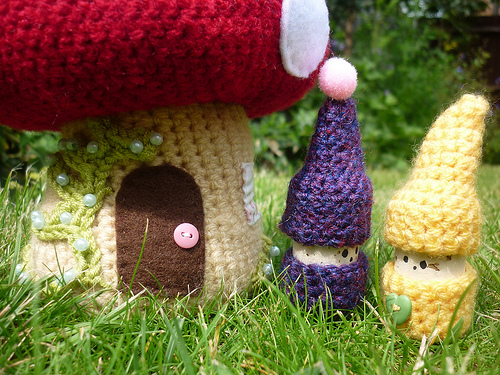 Crochet Korknisse and Toadstool Tutorial