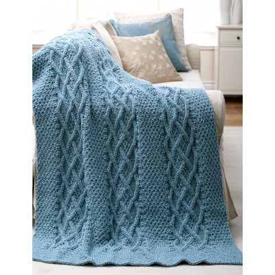 Cushy Cables Afghan Free Knitting Pattern