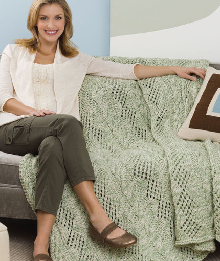 Double Delight Throw - Free Knitting Pattern
