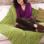Easy Cable Afghan with Diamond Texture