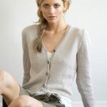 Fitted Vee Neck Cotton Cardigan - Free Jo Sharp Knitting Pattern