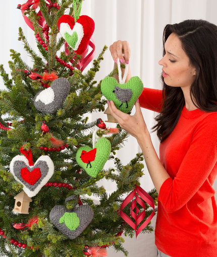 Holiday Heart Ornaments