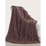 Horseshoe Cable Blanket - Free Knitting Pattern