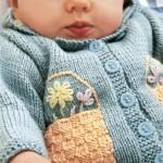 Jill - Free Baby Cardigan Knitting Pattern
