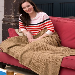 Knit Your Cables Afghan free knitting pattern