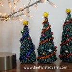 Knitted Christmas Trees - Free Knit Pattern