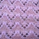 Lace Chevron Knitting Stitch by Knitting Bee