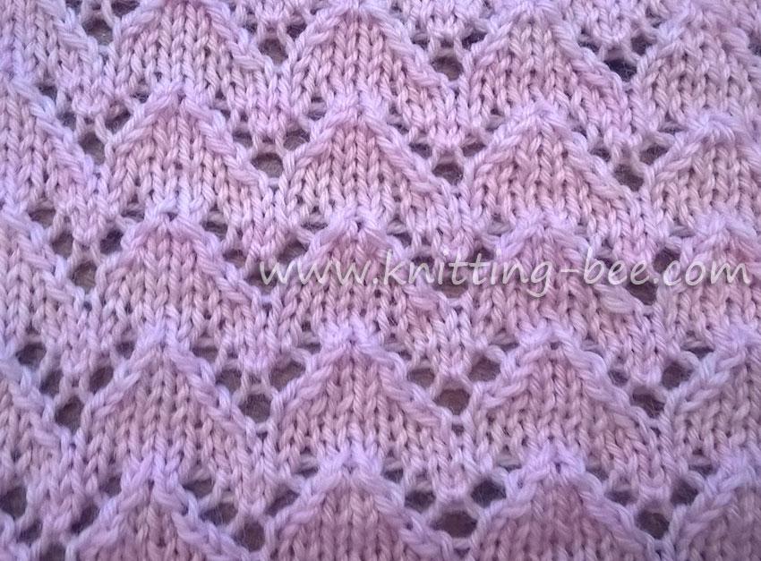 Lace Knitting Pattern Library : 50 free Lace Stitches knitting patterns Knitting Bee ...