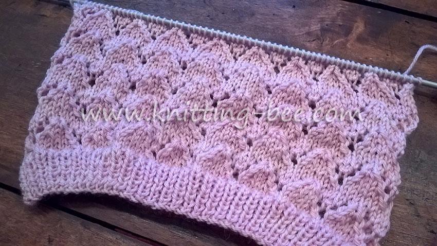 Knitting Lace Chevron Stitch Pattern : Lace chevron knitting stitch by bee