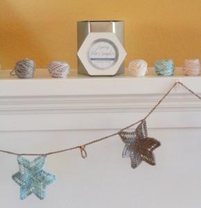 Luxury Holiday Star Garland Free Knitting Pattern 1