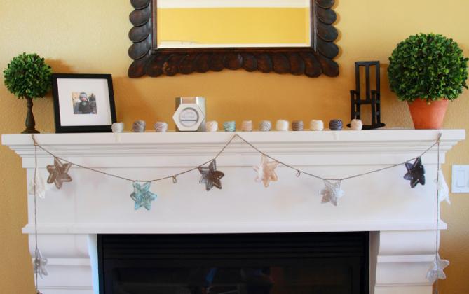 Luxury Holiday Star Garland Free Knitting Pattern